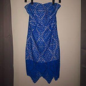 Royal Blue Lace Cocktail Dress
